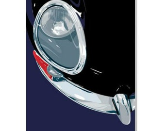 Jaguar E-Type Card - Birthday card/motorcard for Dad,Granddad,Brother,Friend,Husband who loves cars.