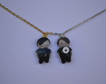 Dan and Phil inspired chibi necklaces