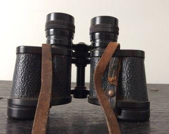 WWII Barr &Stroud Military Binoculars / British Officer / 8 x 30 Glasgow / London /