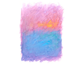 16 x 20 Print - COLOR #20 - Abstract Minimalist Watercolor Print