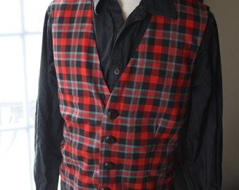 Vest man: lumberjack chic Medium-Large