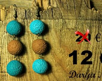 Dangle earrings, Beaded earrings, free shipping !! Ball earrings, gift for her, spring earrings, turquoise earrings, Fashion earrings, sale