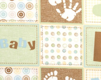 Fitted Crib Sheet Neutral Baby Blocks