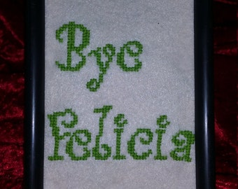Bye Felicia Framed Cross stitch