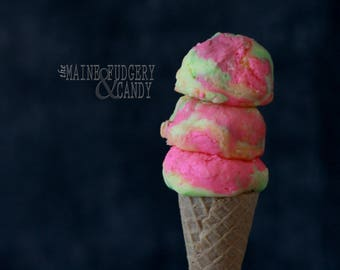 Maine Fudgery Rainbow Sherbet Fudge