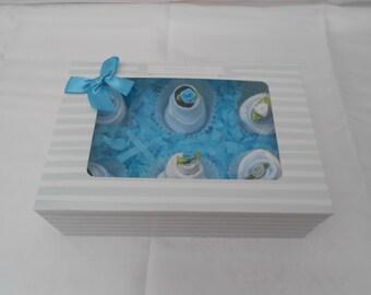 Baby Sock Cupcakes Gift Box