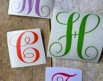 Single letter decal / letter decal / Vinyl sticker / vinyl decal / yeti decal / laptop decal / RTIC sticker / window decal / Personalized
