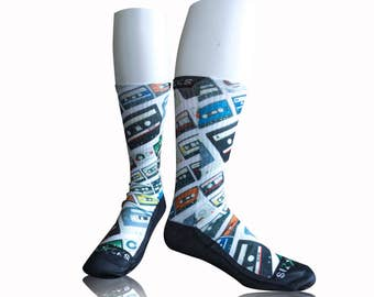 Handmade Sublimated Socks style Mixtape