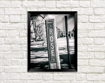 ROSE - ROSIE - Rose Street Sign - Name Sign - Photography Art Print