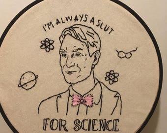 Bill Nye Embroidery