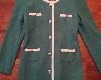 Pink Martini 1950s 1960s Vintage inspired Coco Chanel dress jacket - medium