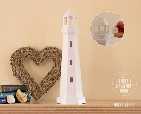 Lighthouse papercraft low poly lighthouse template diy tea lighthouse papercraft low poly lighthouse template diy tea light lighthouse model nautical decor beach decor pdf printable download pronofoot35fo Choice Image