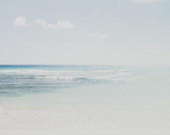 fade, beach art, ocean photo, tropical print, nature photography, beach print, minimalist photo, art print, Barbados print