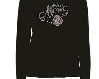 Rhinestone Baseball Mom Lightweight T-Shirt                                 2222 - B4PS