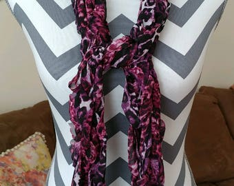 Purple Panther Fashion Scarf/Dressy Scarf/Work Scarf/Spring Scarf/Summer Scarf/Tie Scarf/Arm Knit Scarf