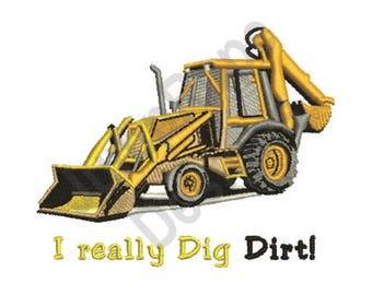 Dig Dirt - Machine Embroidery Design