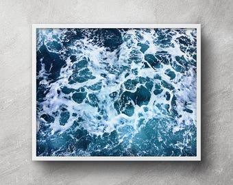 Ocean print, Ocean printable, Ocean photography, Ocean wall art, Sea poster, Sea print, Ocean print, Coastal wall decor