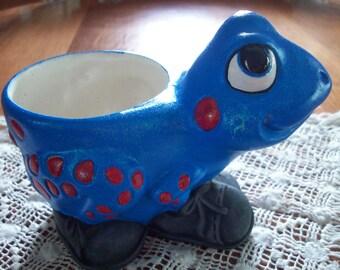 Blue Frog vase