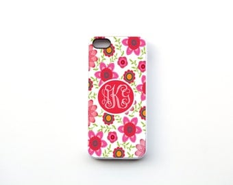 Floral Design Monogrammed Phone Case