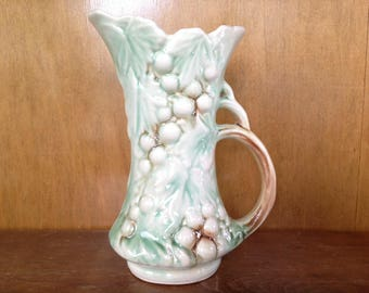 Vintage McCoy Grapes & Leaves Pitcher