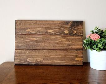 Custom Wood Sign | hand lettered wall decor | custom wooden sign 10.5x16