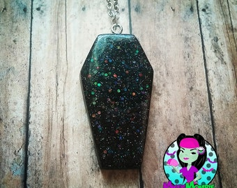 Holographic Coffin Necklace