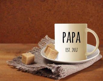 Papa Mug, Grandpa Gift, Grandpa Mug, Gift for Papa, New Grandpa, Custom Dad Gift, Personalized Mug, Birth Announcement, Pregnancy Reveal