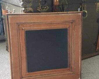 Repurposed Cabinet door chalkboard wall hanger