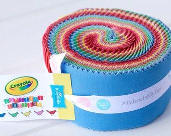 "Vintage Crayola Confetti Cottons 2.5"" Rolie Polie by Riley Blake"