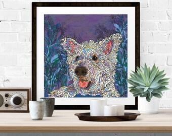 Giclee Print - 'Westie Fun' West Highland Terrier Art Print