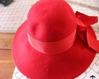 Red hat with red ribbon Make it a red hat lady topper