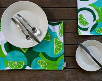Handmade Placemats Lime Sundowners Design