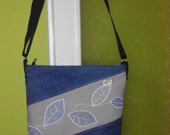 Custom-designed denim bag is applied Letter sample