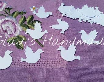 500 white doves wedding confetti