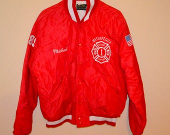 Vintage Fire Fighter Bomber Jacket