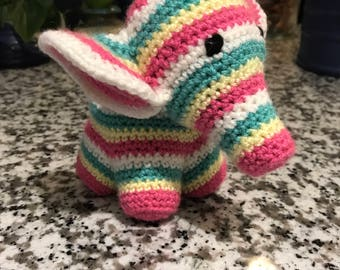 crochet stuffed elephant