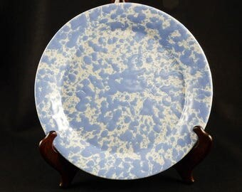 Bennington Potters Agate Morning Glory Blue Plate 16033
