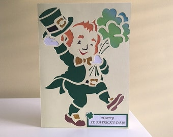 Saint Patrick's day Card, St. Patrick's day Card, Greeting Card, Home Made Card