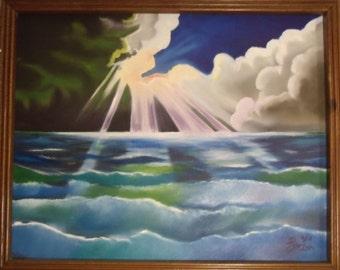 Original Painting - Sky Meets Ocean
