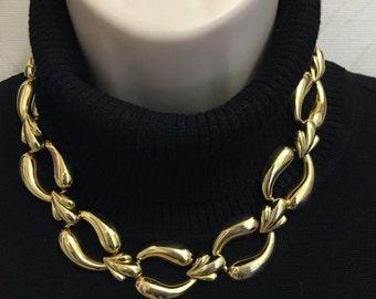 Vintage Art Deco Gold Necklace