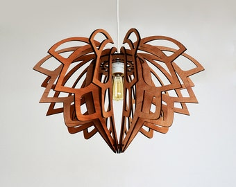 Lotus lamp - pendant - natural - wood
