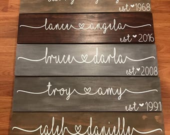 Personalized Wood Name Plaque
