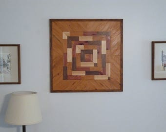 Wood Wall Art Picture, Wood Art, Reclaimed Wood Art,   ~   Boxes and Boxes