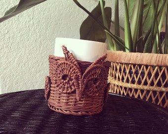 Wicker Owl Mug
