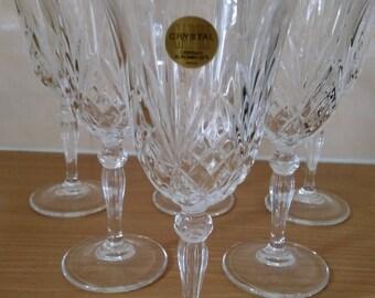 6 Vintage Italian Crystal Wine Glasses 24%