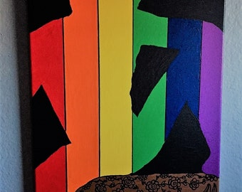 Gay Pride Art, Relaxed With Pride, Gay Pride Painting, Gay Pride, Pride Creations, Gay Art, Pride Art, Rainbow Art, Rainbow, Gay Male Art