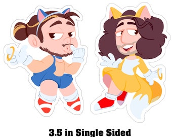 Sonic Grumps Laminated Charms - Game Grumps