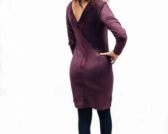 Clara dress, dress, women's dress, Burgundy