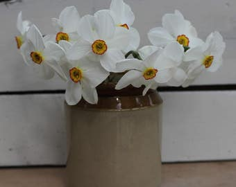 Vintage Earthenware/Stoneware Jar-Great For Flower Arranging/Vintage Farmhouse/Antique Jar