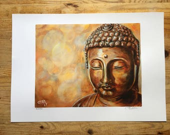Golden Buddha Limited Edition Print